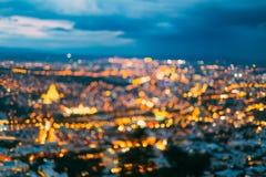 被弄脏的Bokeh建筑都市背景 与都市的背景 库存照片