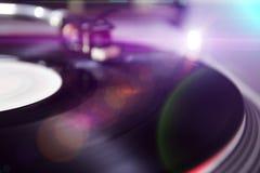 -被弄脏的DJ背景 免版税库存图片