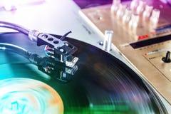 -被弄脏的DJ背景 免版税图库摄影