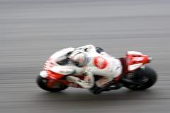 被弄脏的motogp赛跑 免版税库存照片