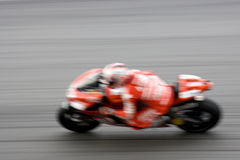 被弄脏的motogp赛跑 免版税图库摄影