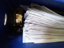 被归档的束纸 免版税库存图片