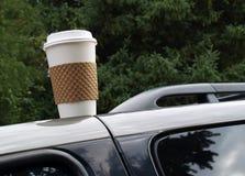 被忘记的咖啡杯 免版税库存照片