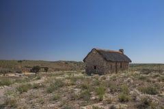 被恢复的先驱村庄在卡拉哈里 库存照片
