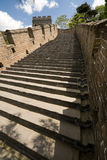 被恢复的北京瓷极大的mutianyu跨步墙壁 免版税库存图片