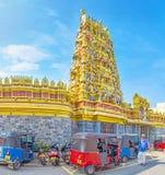 被恢复的印度寺庙在科伦坡 免版税图库摄影