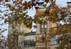 被恢复的城堡墙壁 免版税图库摄影