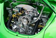 被恢复的大众甲虫引擎 库存图片