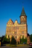 被恢复的大教堂加里宁格勒和主要地方城市的标志  库存图片
