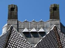 被恢复的屋顶 库存照片
