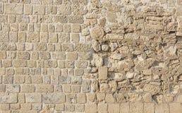 被恢复的巴林另外堡垒构造墙壁 库存照片