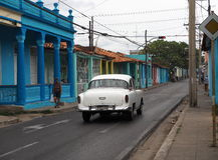 被恢复的汽车在西古巴 库存照片