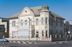 被恢复的100年旅馆Eberwein在斯瓦科普蒙德 库存照片