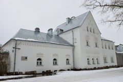 被恢复的Feodorovsky镇在普希金 免版税库存照片