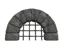 被成拱形的入口石头 免版税库存照片