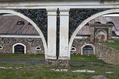 被成拱形的历史篱芭 库存照片