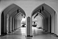 被成拱形的双重走廊 免版税库存图片