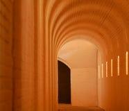 被成拱形的发光的段落 库存照片