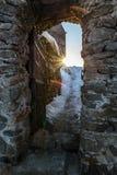 被成拱形的堡垒入口 库存照片