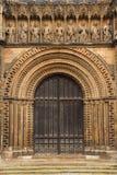 被成拱形的大教堂门 库存图片