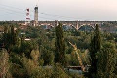 被成拱形的桥梁 库存照片