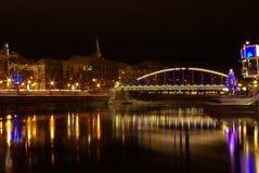 被成拱形的桥梁tartu 免版税库存图片