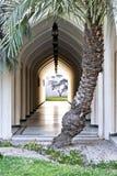 被成拱形的走廊 库存照片