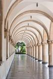 被成拱形的走廊 图库摄影