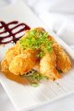 被打击的日本panko大虾样式 库存照片