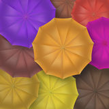 被打开的伞顶视图,特写镜头 库存照片
