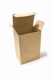 被打开的包装纸箱子 库存图片