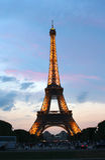 被打开的埃佛尔铁塔 库存照片