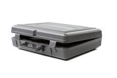 被打开的灰色塑料盒。 免版税图库摄影