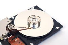 被打开的硬盘驱动器 图库摄影