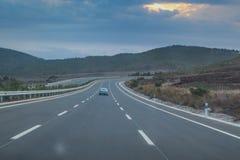 被打开的第一条埃赛俄比亚的高速公路! 免版税库存照片
