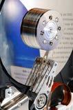 被打开的计算机硬盘 免版税图库摄影