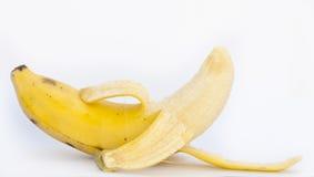 被打开的香蕉 库存照片