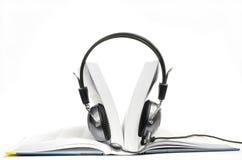 被打开的audiobook 免版税库存照片