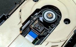 被打开的CD-DVD ROM 图库摄影