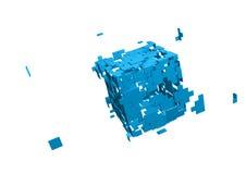 被打碎的多维数据集 免版税库存照片