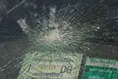被打碎的玻璃 库存图片