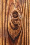 被打结的纹理木头 库存照片