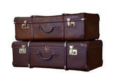 被打击的手提箱 免版税库存图片