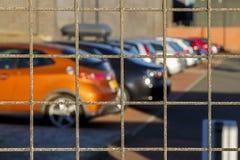 被扣押的汽车 库存照片