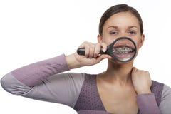 被扩大化的牙 免版税库存照片