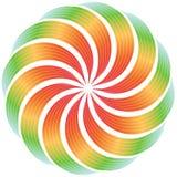 被扭转的五颜六色的设计 免版税库存照片