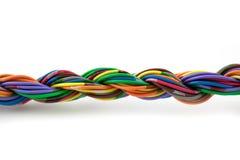 被扭转的电缆 库存图片