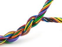 被扭转的电缆 免版税库存照片
