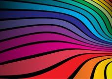 被扭转的色的彩虹空间 库存图片