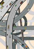被扭转的高速公路 免版税图库摄影
